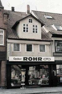 Bild: Optik Rohr Geschäftsfassade 1977